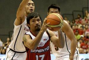 Manny Pacquiao makes pro basketball debut